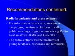 recommendations continued4