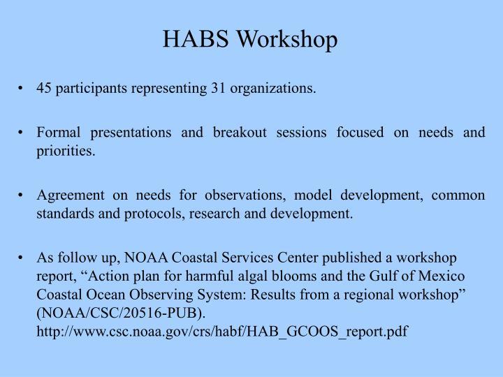HABS Workshop