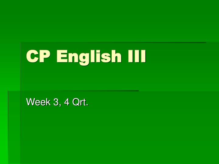 CP English III