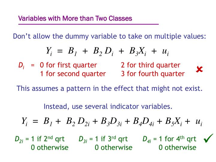 Variables with More than Two Classes