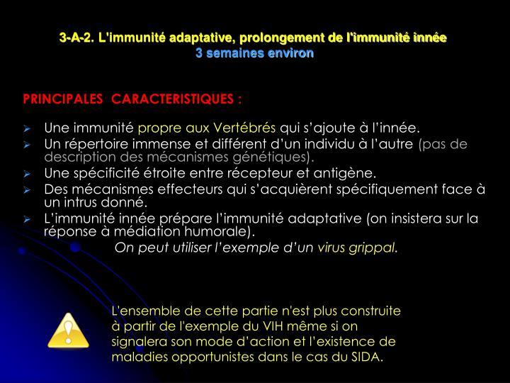 3-A-2. L'immunité adaptative, prolongement de l'immunité innée