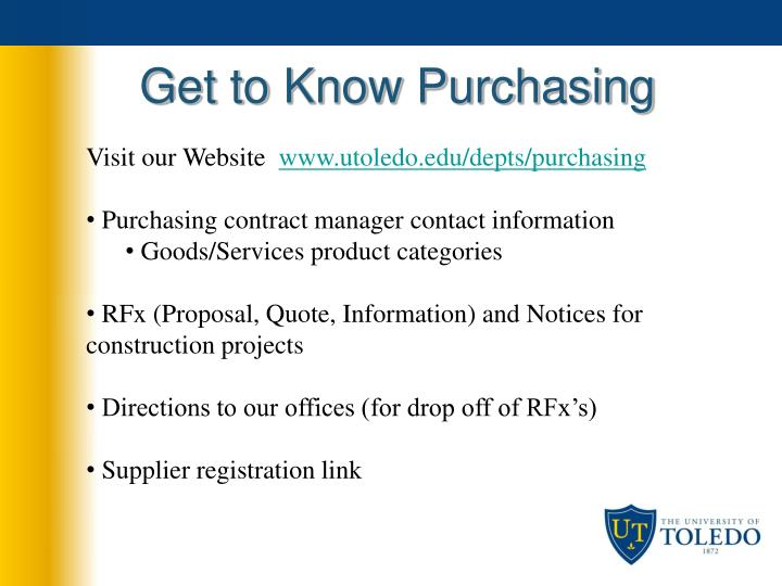 Get to know purchasing