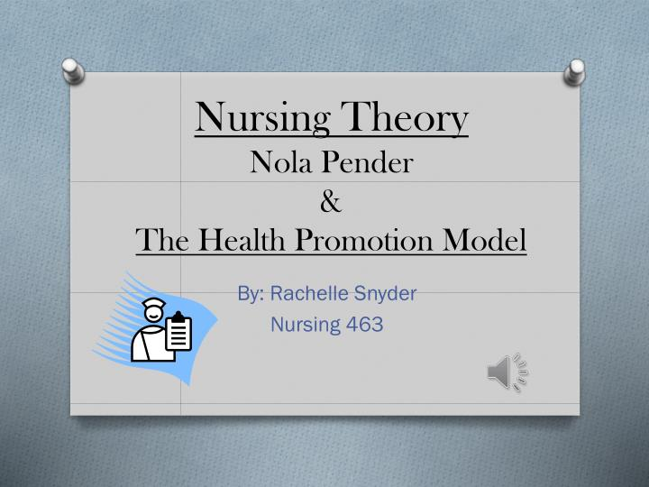 nola j pender theorist They are only a sampling of the resources available to you about this theorist and her nursing theory  unit 4 nursing theories: nola j pender:.