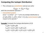 computing the isotopic distribution1