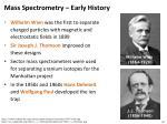 mass spectrometry early history
