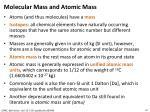 molecular mass and atomic mass