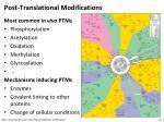 post translational modifications1