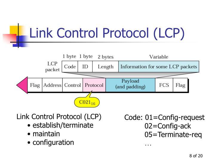 Link Control Protocol (LCP)