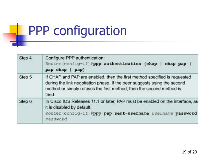 PPP configuration