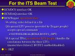 for the its beam test