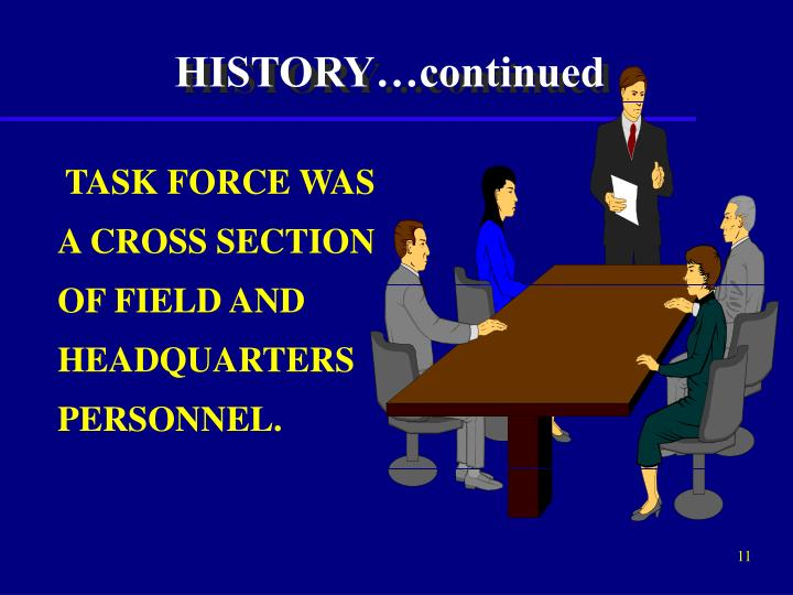 HISTORY…continued