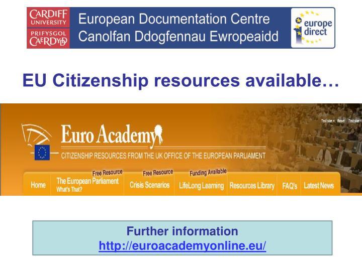 EU Citizenship resources available…