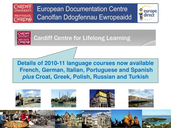 Details of 2010-11 language courses now available