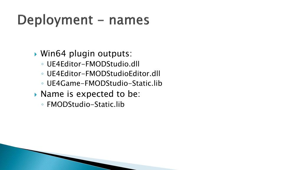 PPT - Building a UE4 Plugin PowerPoint Presentation - ID:6391979