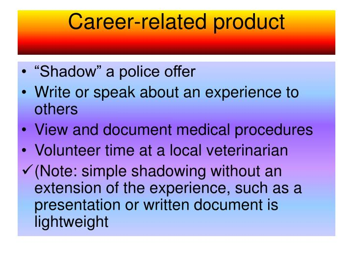 Career-related product