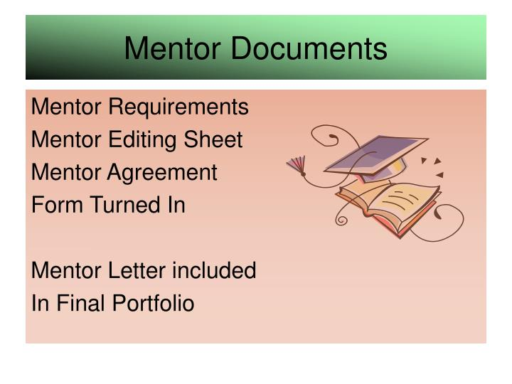 Mentor Documents