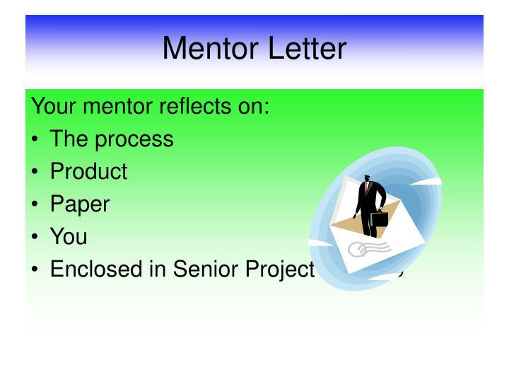 Mentor Letter