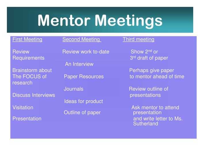 Mentor Meetings