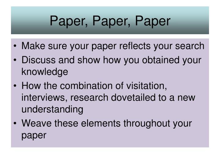Paper, Paper, Paper