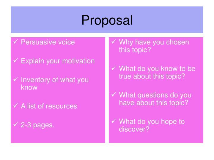 Persuasive voice