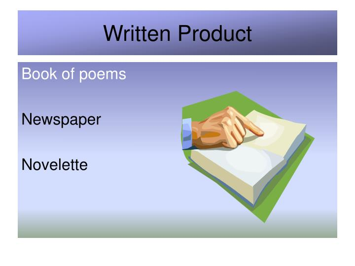 Written Product