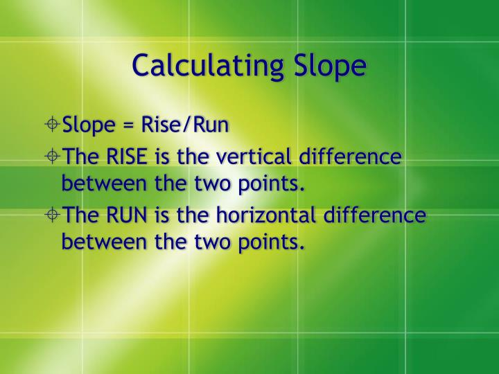 Calculating Slope