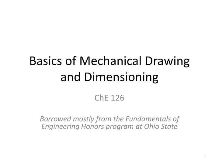 basics of mechanical drawing and dimensioning n.