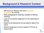 background research context