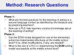 method research questions