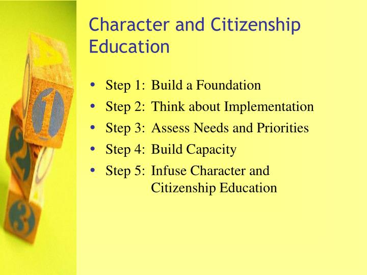 Character and citizenship education