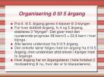 organisering 0 til 5 rgang