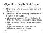 algorithm depth first search
