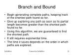 branch and bound
