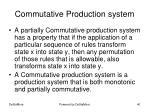 commutative production system