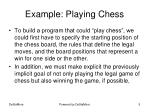 example playing chess