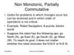 non monotonic partially commutative