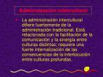 administraci n intercultural