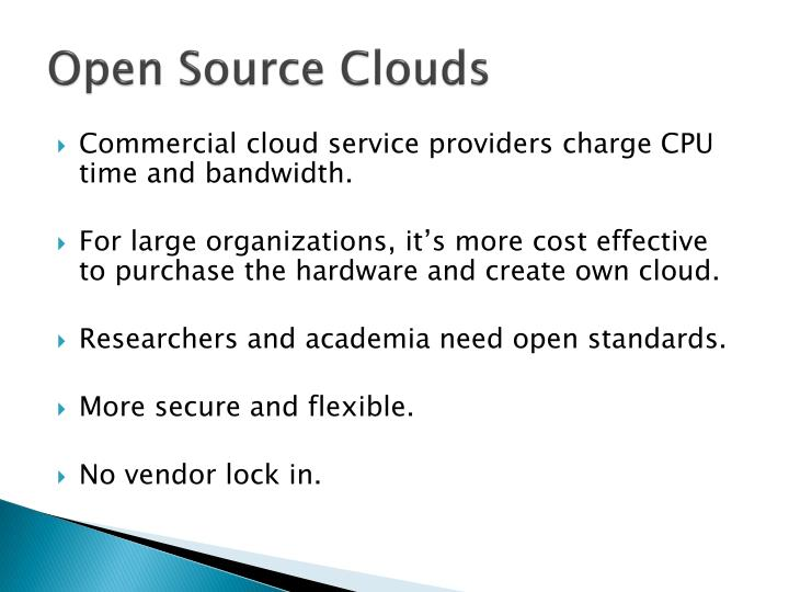 Open Source Clouds
