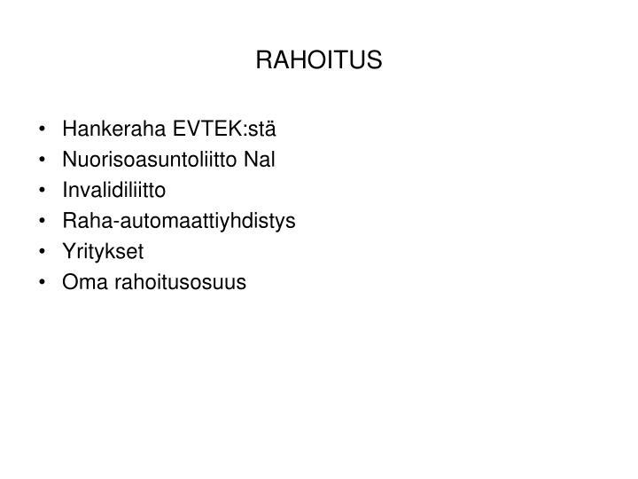 RAHOITUS