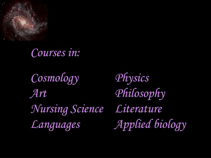 Courses in: