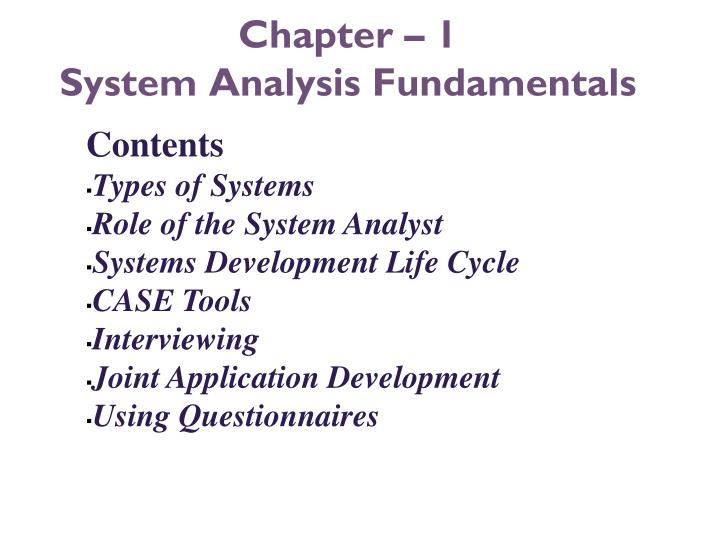 chapter 1 system analysis fundamentals n.