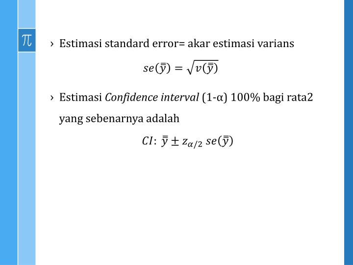 Estimasi standard error=