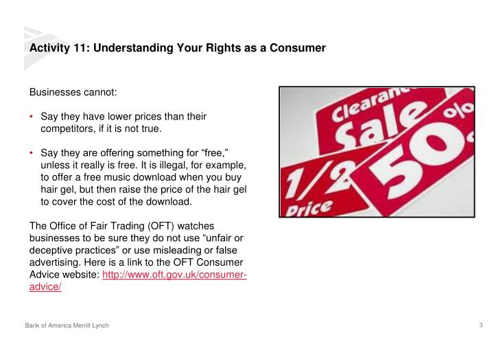 Activity 11 understanding your rights as a consumer1