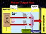 router output port