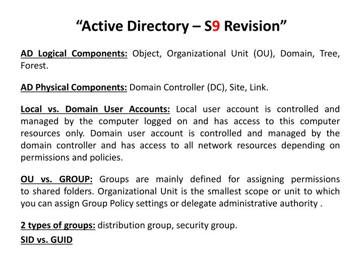 Active directory s 9 revision1