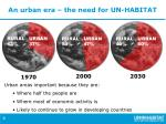 an urban era the need for un habitat
