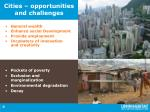 cities opportunities and challenges
