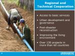 regional and technical cooperation