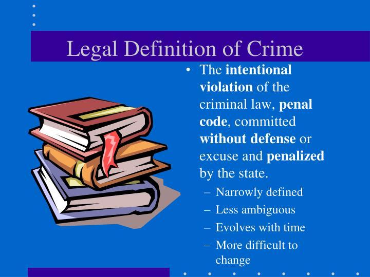 Legal Definition of Crime