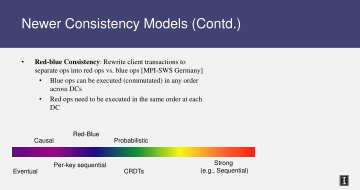 Newer Consistency Models (Contd.)